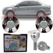 Trava Antifurto Anti Roubo de Roda Parafuso Porca Farad Starlock Fiat Siena 2012 em Diante Com Mais de 10.000 Segredos A2C/E