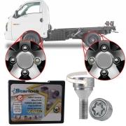 Trava Antifurto Anti Roubo de Roda Parafuso Porca Farad StarLock Hyundai HR 2003 à 2019 Com Mais de 10.000 Segredos