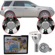 Trava Antifurto Anti Roubo de Roda Parafuso Porca Farad Starlock Land Rover Freelander 2 2010 em Diante Com Mais de 10.000 Segredos DLF/E