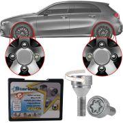 Trava Antifurto Anti Roubo de Roda Parafuso Porca Farad Starlock Mercedes Classe A 2005 em Diante Com Mais de 10.000 Segredos ZAM/E