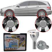 Trava Antifurto Anti Roubo de Roda Parafuso Porca Farad Starlock Mercedes Classe R 2006 à 2012 Com Mais de 10.000 Segredos ZAM/E