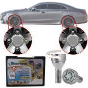 Trava Antifurto Anti Roubo de Roda Parafuso Porca Farad Starlock Mercedes CLS 2004 em Diante Com Mais de 10.000 Segredos ZAM/E
