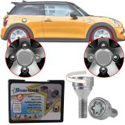 Trava Antifurto Anti Roubo de Roda Parafuso Porca Farad Starlock Mini Cooper S 2007 em Diante Com Mais de 10.000 Segredos N1/E Black