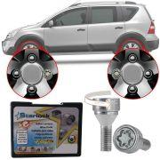 Trava Antifurto Anti Roubo de Roda Parafuso Porca Farad Starlock Nissan Livina 2009 à 2014 Com Mais de 10.000 Segredos R1/E