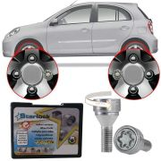 Trava Antifurto Anti Roubo de Roda Parafuso Porca Farad Starlock Nissan March 2012 à 2019 Com Mais de 10.000 Segredos R1/E