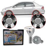 Trava Antifurto Anti Roubo de Roda Parafuso Porca Farad Starlock Nissan Tiida Sedan 2011 12 13 Com Mais de 10.000 Segredos R1/E