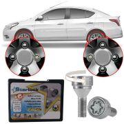 Trava Antifurto Anti Roubo de Roda Parafuso Porca Farad Starlock Nissan Versa 2012 à 2019 Com Mais de 10.000 Segredos R1/E