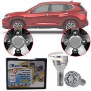 Trava Antifurto Anti Roubo de Roda Parafuso Porca Farad Starlock Nissan X-Trail 2005 à 2011 Com Mais de 10.000 Segredos R1/E