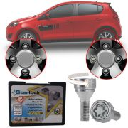 Trava Antifurto Anti Roubo de Roda Parafuso Porca Farad Starlock Fiat Novo Palio 2012 em Diante Com Mais de 10.000 Segredos A2C/E