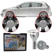 Trava Antifurto Anti Roubo de Roda Parafuso Porca Farad Starlock Chevrolet Vectra GT 2005 à 2011 Com Mais de 10.000 Segredos I3/E
