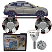 Trava Antifurto Anti Roubo de Roda Parafuso Porca Farad Starlock Volkswagen Nivus 2020 21 Com Mais de 10.000 Segredos ZA/E