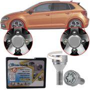 Trava Antifurto Anti Roubo de Roda Parafuso Porca Farad Starlock Volkswagen Polo 2002 à 2019 Com Mais de 10.000 Segredos ZA/E