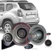Trava Antifurto Anti Roubo Estepe Renault Duster 2012 Em Diante (exceto 4x4) Sparelock Com Mais de 10.000 Segredos