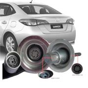 Trava Antifurto Anti Roubo Estepe Toyota Yaris Sedan 2019 Em Diante Sparelock Com Mais de 10.000 Segredos FT08