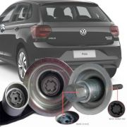 Trava Antifurto Anti Roubo Estepe Volkswagen Polo 2018 Em Diante Sparelock Com Mais de 10.000 Segredos
