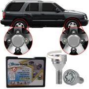 Trava Parafusos Porcas Antifurto Roubo Farad Starlock Chevrolet Blazer 1995 Até 2011 Com Mais de 10.000 Segredos H/E