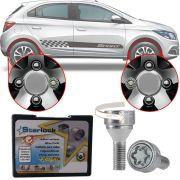 Trava Parafusos Porcas Antifurto Roubo Farad Starlock Chevrolet Onix 2012 Até 2020 Com Mais de 10.000 Segredos H/E