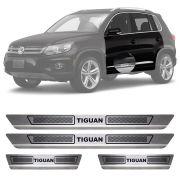 wSoleira de Aço Inox Escovado Volkswagen Tiguan 4 Portas 2012 13 14 15 16 17