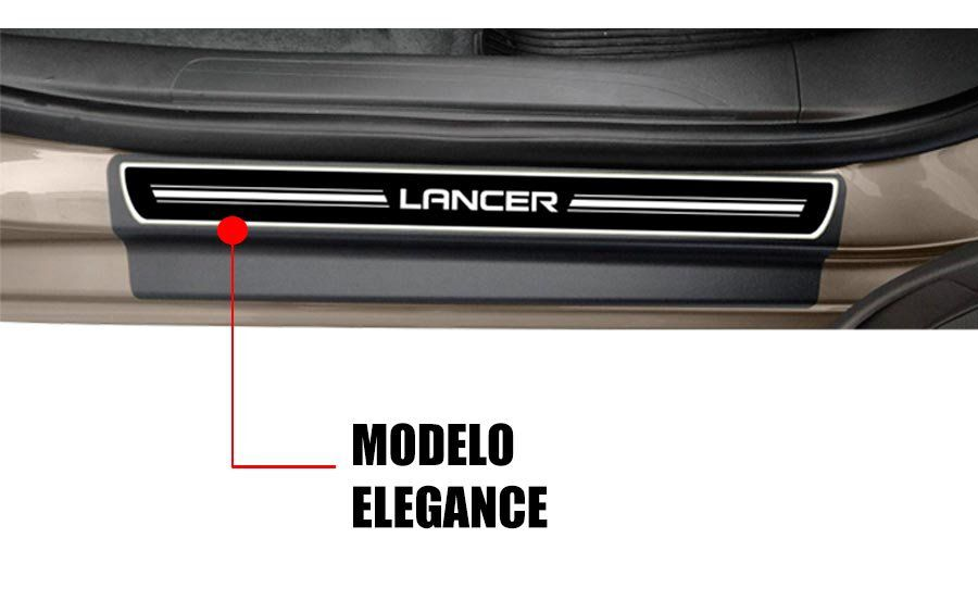 Soleira Resinada Premium Mitsubishi Lancer 2014 15 16 17 18 19 20 8 Peças