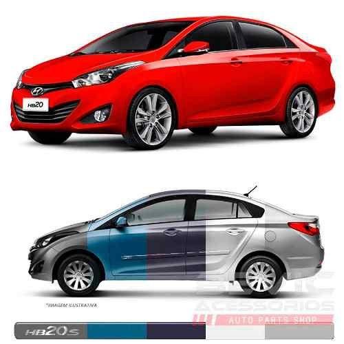 Friso Lateral Transparente Hyundai Hb20s  2012 13 14 15 16 17 18 19 Adere a cor do carro