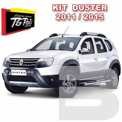 Kit Aventura Duster 2012 13 14 15 Completo Com Bumper Farol de Milha Alargador de Paralama