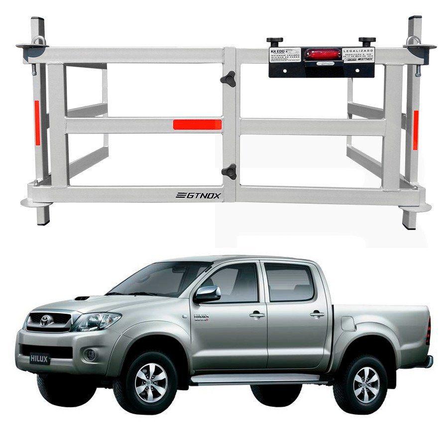 Extensor de Caçamba Toyota Hilux 2005 a 2015 Dobrável Com Divisor de Cargas