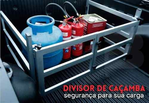 Extensor de Caçamba Volkswagen Saveiro 2011 12 13 14 15 16 17 Dobrável Com Divisor de Cargas