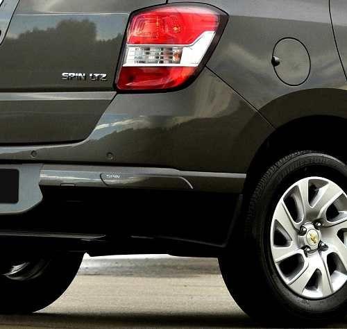 Aplique Adesivo Protetor de Parachoque Chevrolet Spin 2012 13 14 15 16 17 18 19 Incolor