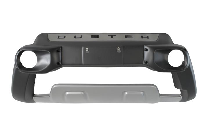 Kit Overbumper Bumper Front Bumper Renault Duster 2016 17 18 19 Com Suporte Para Farol de Milha