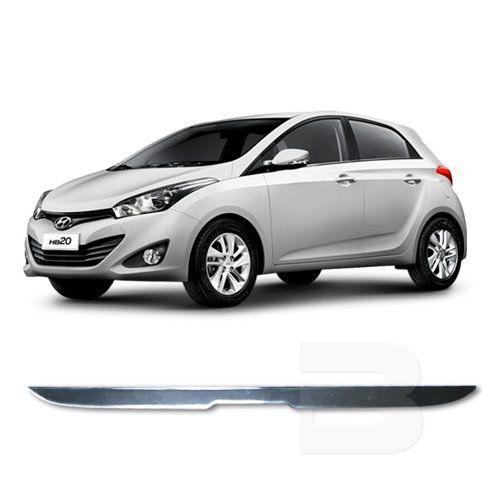 Friso Resinado Porta Malas Hyundai Hb20 2012 13 14 15 16 17 18 Cromado