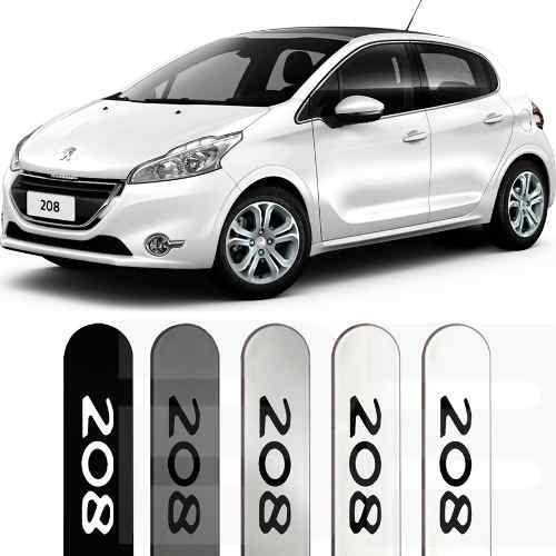 Friso Lateral na Cor Original Peugeot 208 2013 14 15 16 17 18 - Bevic  Acessórios ... 76a98b0b84d