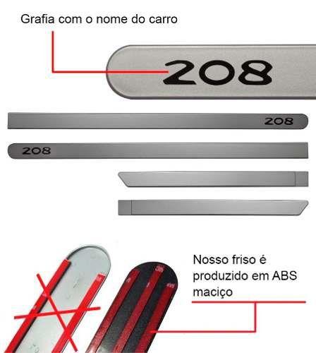 Friso Lateral na Cor Original Peugeot 208 2013 14 15 16 17 18