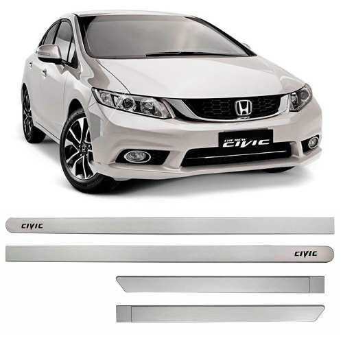 Friso Lateral na Cor Original Honda New Civic 2013 14 15 16