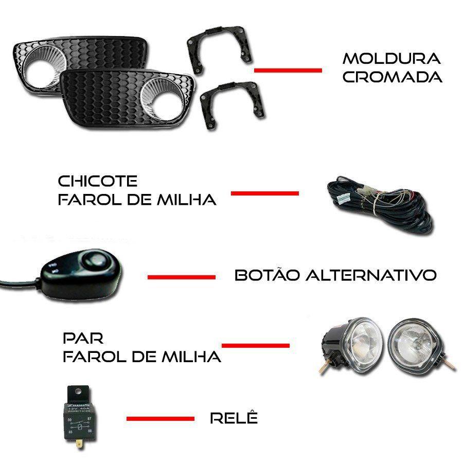 Kit Farol de Milha Completo Fiat Palio Fire 2004 05 06 07 08 09 10 11 12 13 14 15 16 Weekend Siena Strada 2004 05 06 07 08 09 10 11 12