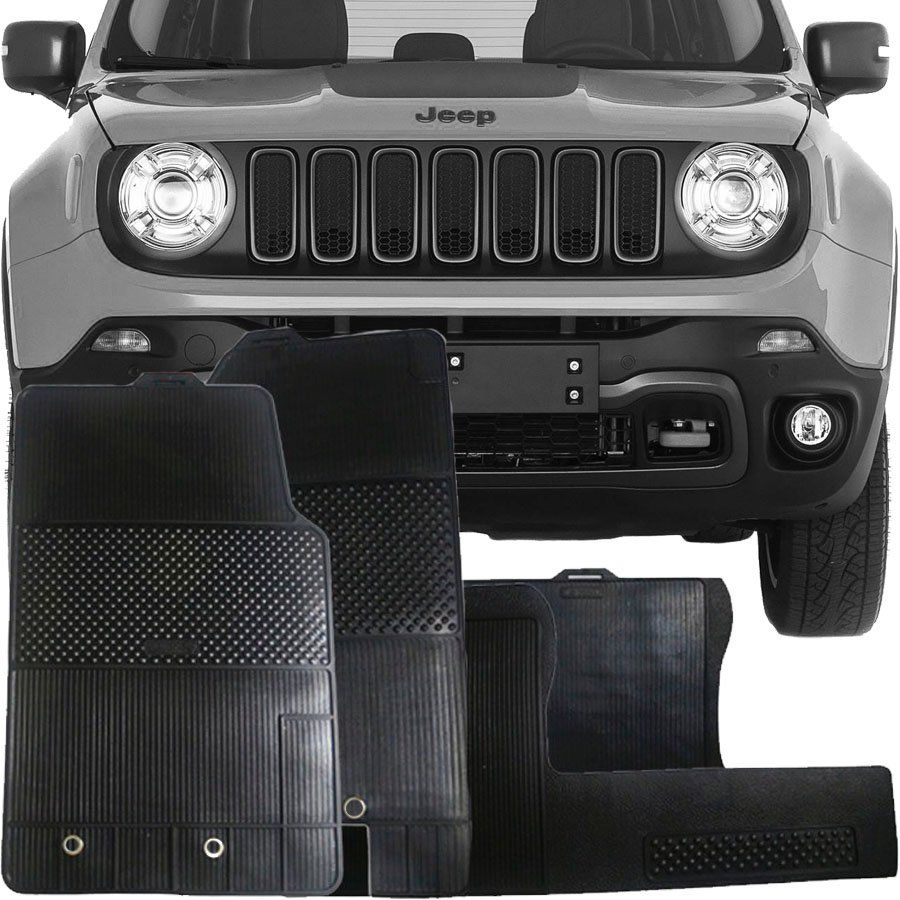 Tapete de Borracha Jeep Renegade 2015 16 17 18 19 Super Resistente
