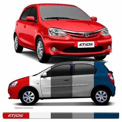 Friso Lateral Transparente Toyota Etios 2012 13 14 15 16 17 18 19 Adere a cor do carro