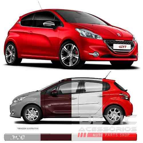 Friso Lateral Transparente Peugeot 208 2013 14 15 16 17 Adere a cor do carro