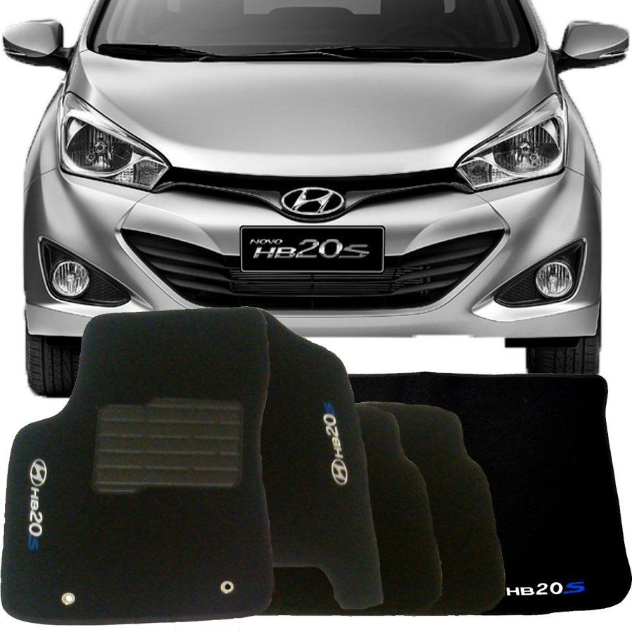 Tapete Carpete Tevic Hyundai Hb20s 2016 17 18 Completo Com Porta Malas