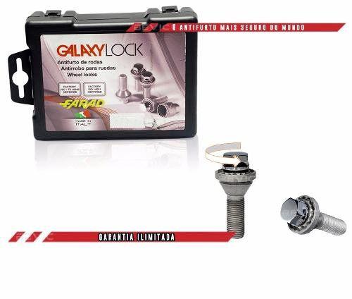 Trava Antifurto Anti Roubo de Roda Parafuso Porca Farad Galaxylock Chevrolet Cobalt 2012 à 2019 Com Mais de 10.000 Segredos H/M