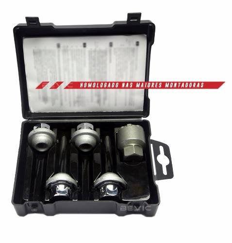 Trava Antifurto Anti Roubo de Roda Parafuso Porca Farad Galaxylock Peugeot 208 2013 à 2019 Com Mais de 10.000 Segredos BE8/M