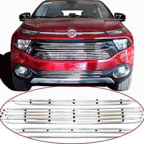 Sobre Grade Fiat Toro 2016 A 2019 Cromada Aço Inox Slim