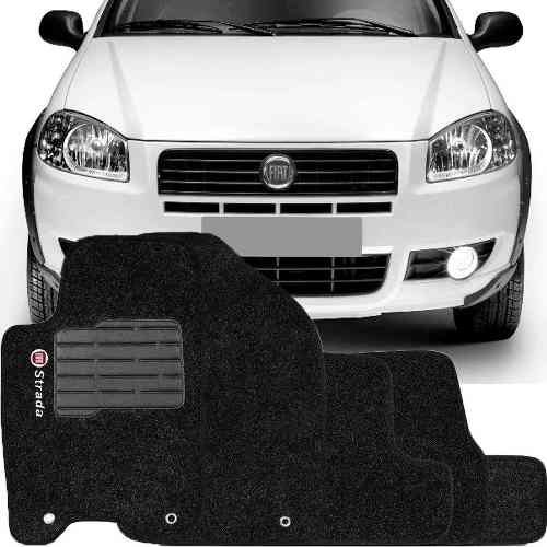 Tapete Carpete Tevic Fiat Strada Cabine Dupla 2012 13 14 15 16