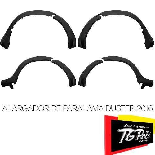 Jogo Completo Alargador de Paralama Renault Duster 2015 16 17 18 19 8 Peças