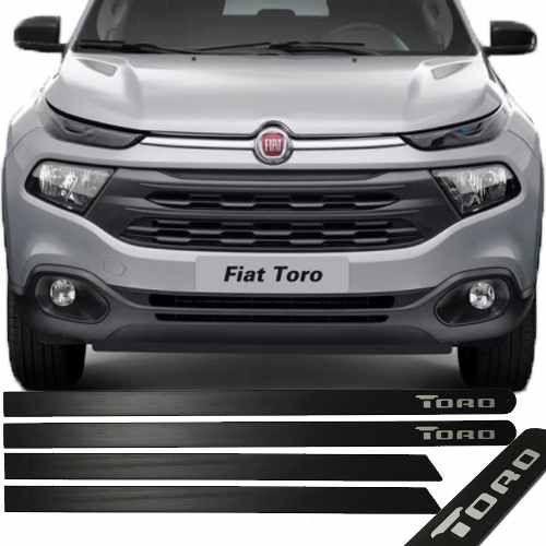 Friso Lateral na Cor Original Fiat Toro 2016 17 18 19 Preto Fosco