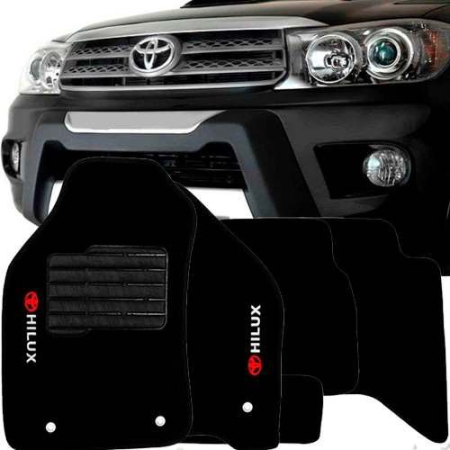 Tapete Carpete Tevic Toyota Hilux 2005 06 07 08 09 10 11 12 Cabine Dupla