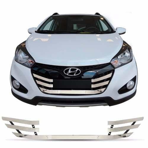 Sobre Grade Hyundai Hb20x 2013 A 2015 Cromada Aço Inox Max