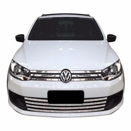 Sobre Grade Volkswagen Saveiro G6 2015 2016 Cromada Aço Inox Max