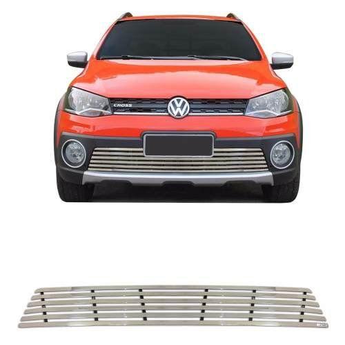 Sobre Grade Volkswagen Saveiro Cross 2014 A 2016 Cromada Aço Inox Elite