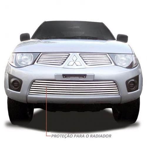 Sobre Grade Mitsubishi L200 Triton XB 2011 2012 Cromada Aço Inox