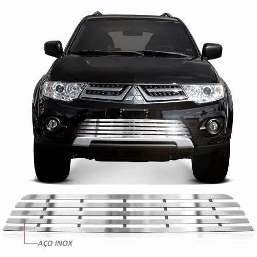 Sobre Grade Mitsubishi Pajero Dakar 2014 A 2016 Cromada Aço Inox Max